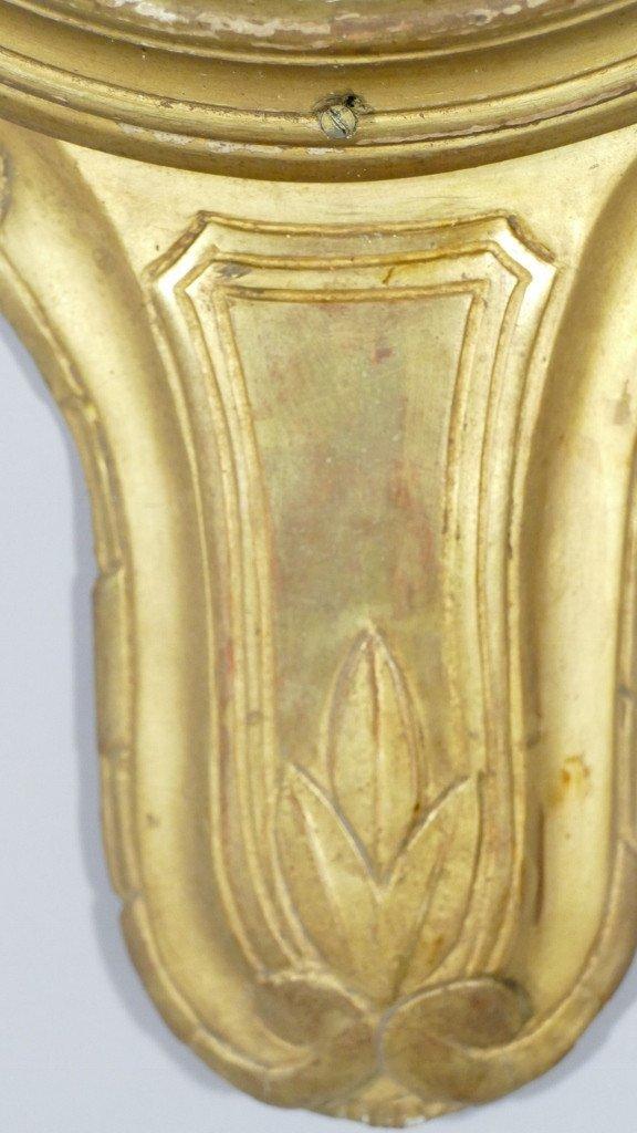 Baromètre Thermomètre Louis XVI En Bois Doré Par Mavero, époque XVIII ème Siècle-photo-7