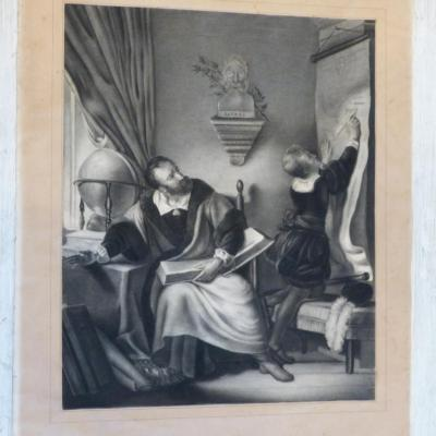 Drawing XIX, The Tutor And His Student, Lesson Bayard