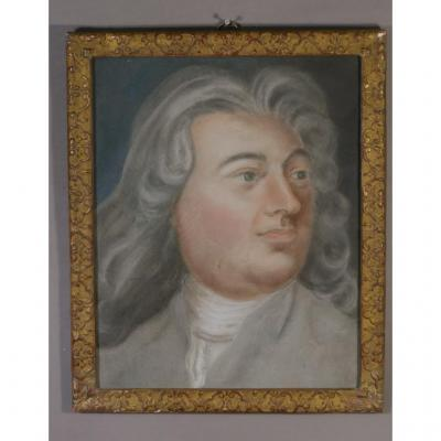 Pastel Portrait Of A Man Louis XIV, Eighteenth Time,