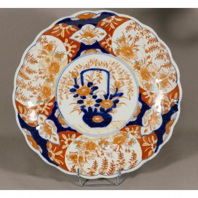 Plat En Porcelaine Imari, Japon, XIX ème