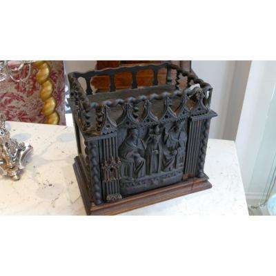 Rare Coffre Reliquaire Gothique En Partie époque XVII ème Siècle