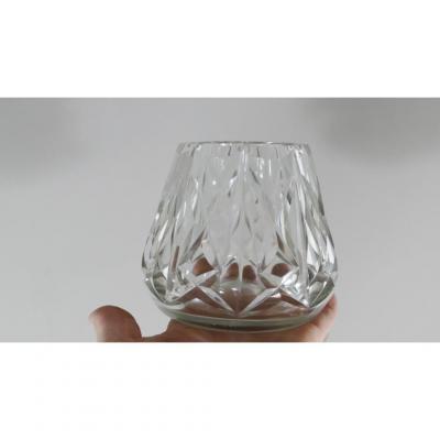 Baccarat, Vase Pyramidal En Cristal Taillé, époque Début XX ème