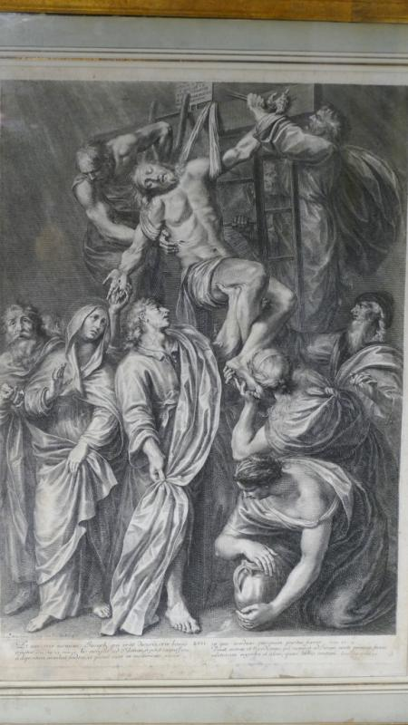 Grégoire Huret, Engraving XVII, Jesus Is Detached And Descended From The Cross-photo-2