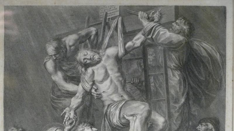Grégoire Huret, Engraving XVII, Jesus Is Detached And Descended From The Cross-photo-3