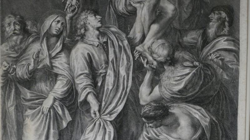 Grégoire Huret, Engraving XVII, Jesus Is Detached And Descended From The Cross-photo-4