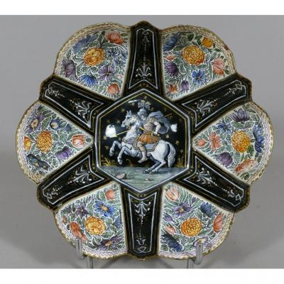 St Georges, Cup Polylobée Enamel, Enamel Limoges, Flowered Reserves, Time XVII