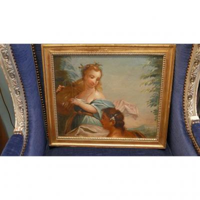 Oil On Canvas XVIII, From Hay Return, Louis XVI Period