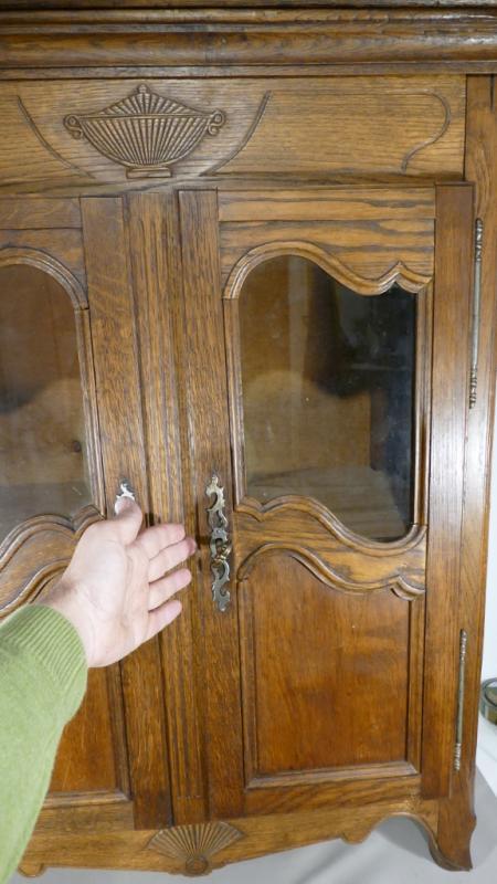 Louis XV Style Miniature Showcase Cabinet, H 96.5 Cm-photo-3