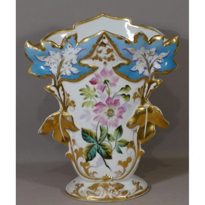 Vase De Mariée En Porcelaine Peinte De Paris, époque XIX ème