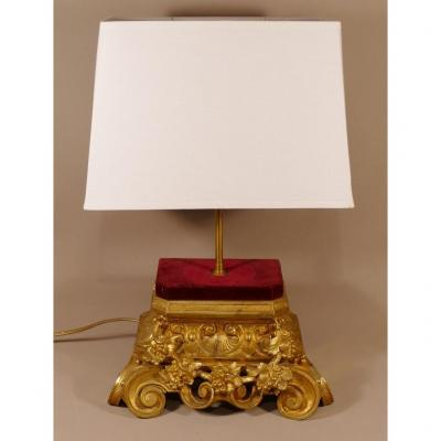 Lamp In Gilt Bronze Napoleon III With Vine Pampers, XIXth Time