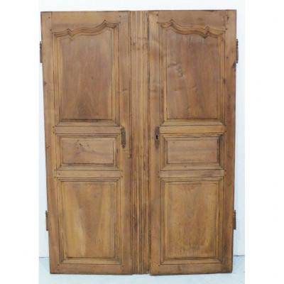 Pair Of Woodwork Cupboard Doors In Walnut, Louis XV Period, Mid XVIIIth Century
