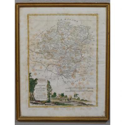 Carte Du Limousin, Périgord Et Quercy, Datée 1776 Par Antonio Zatta