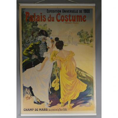 Palais Du Costume, Original Poster 1900 Universal Exhibition By Lem