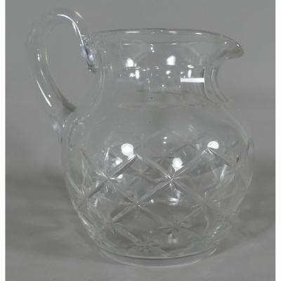Diamond Cut Glass Water Pitcher, Twentieth Time