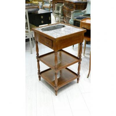 Louis XVI Style Cooler Or Planter Table In Mahogany And Zinc, Late Nineteenth Time
