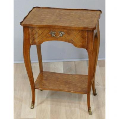 Table De Salon En Marqueterie De Style Transition, époque Début XX ème