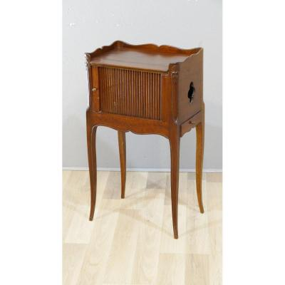 Bedside Curtain Table Or Living Room In Solid Mahogany Louis XV Style, XIXth Time