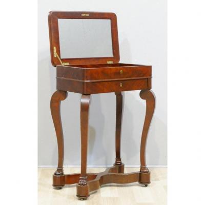 Table Console De Salon à Pieds Griffes, En Acajou, époque Restauration Charles X