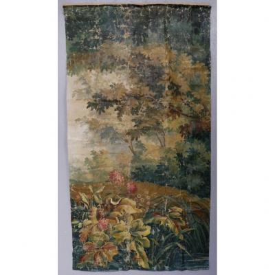 Carton d'Aubusson, Grande Toile Peinte Décorative, Verdure, Tapisserie, époque XIX ème