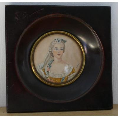 Madame Sophie, Daughter Of Louis XV, Miniature Portrait On Ivory, Twentieth Time
