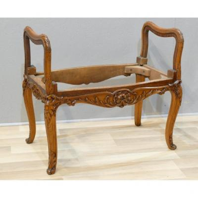 Bench, End Of Bed Or Regency Style Piano In Carved Beech, Early Twentieth