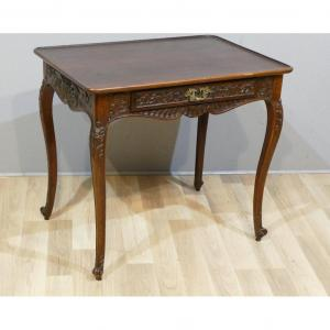 Cabaret Table In Carved Massive Mahogany Louis XV Period, XVIIIth Century