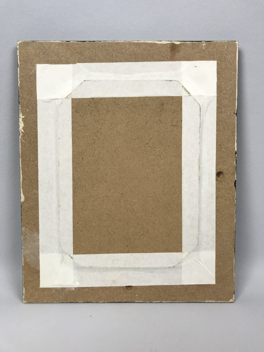 "Signed Watercolor Of ""pascal Courcelles 1956"" Box Decor Dahlias-photo-2"