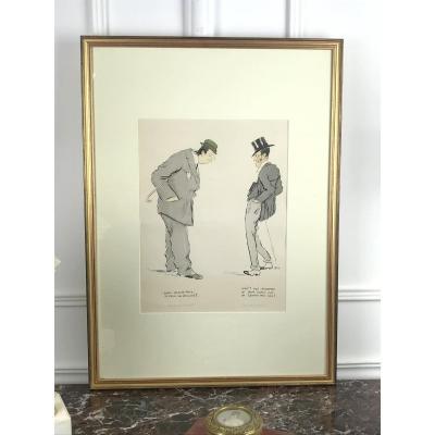 Estampe / Lithographie Humoristique SignÉ Sem ( 1863 - 1934 ) -