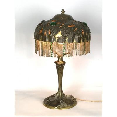 Signed Bronze Lamp