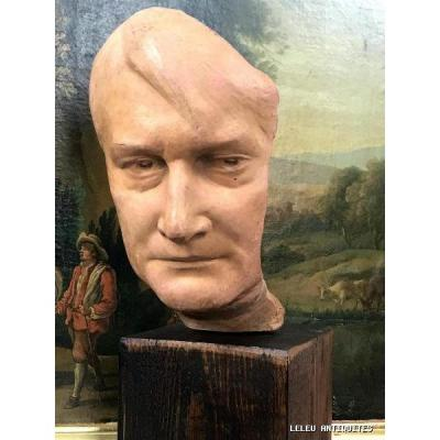 Napoleon Mask In Terracotta Numbered 16/20 And Signed / 40 Cm High