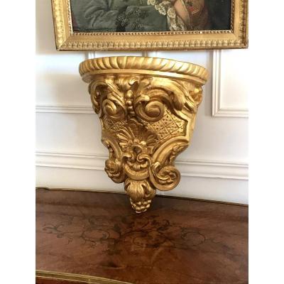 Console D Applique Louis XV Epoque XVIIIe En Bois DorÉ