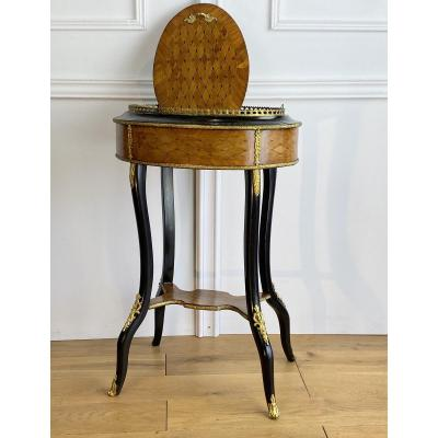 Jardiniere Stamped In Marquetry / Decorated With Bronzes Napoleon III Period