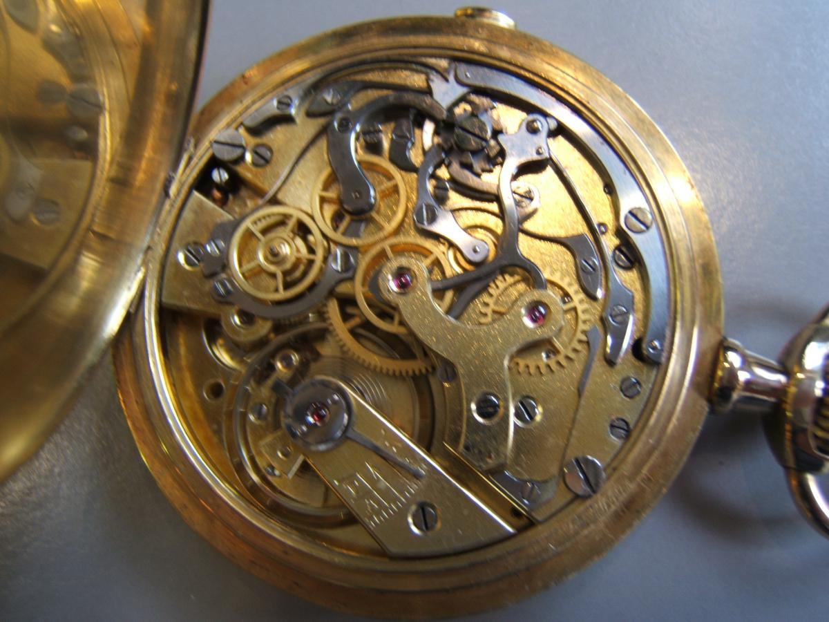 Montre Savonnette Chronographe Or 18 K