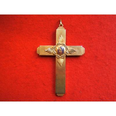 Grande Croix pectorale En Or Et émail Fin XIXè