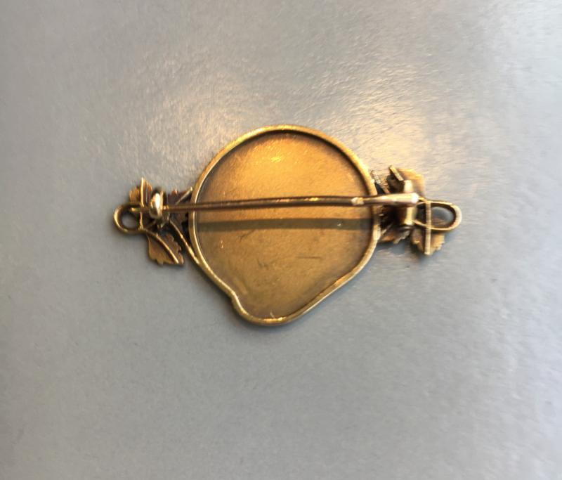 Art Nouveau Brooch In Gold, -photo-2