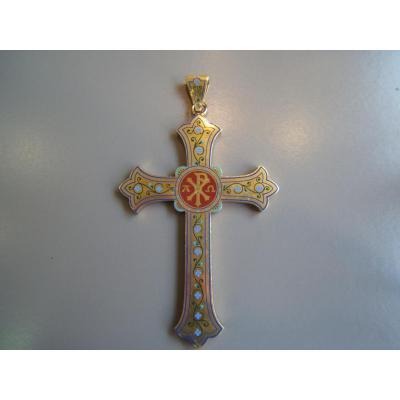 Great Bishop Enameled Gold Cross Nineteenth
