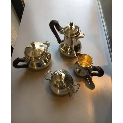 Service égoiste Thé/café En Argent Massif.fin XIXè.