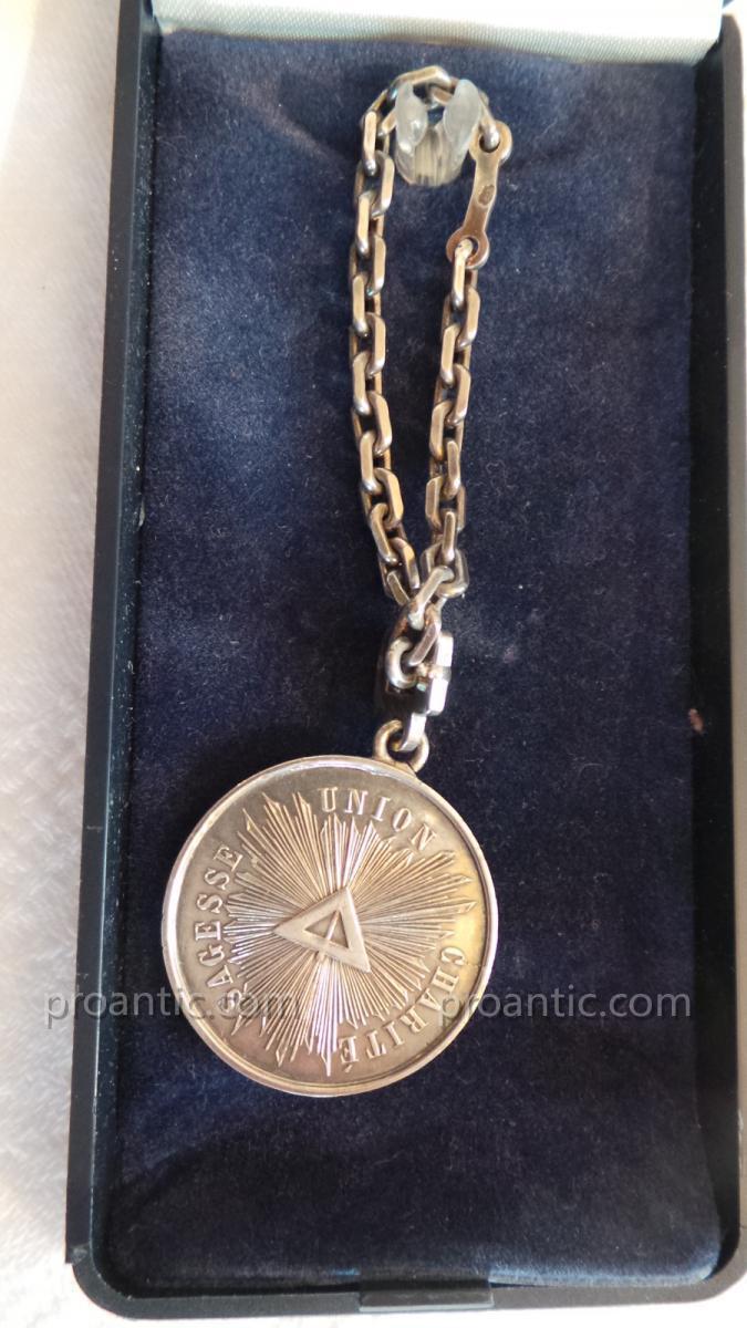 Medaille Loge N° 204 - Ordre De Bordeaux -photo-2