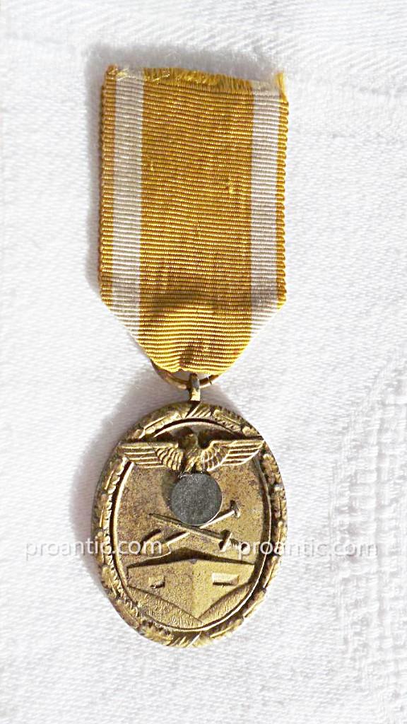 Ww2- Germany- Medaille De Atlantic Wall-photo-2