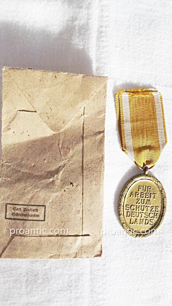 Ww2- Germany- Medaille De Atlantic Wall-photo-4