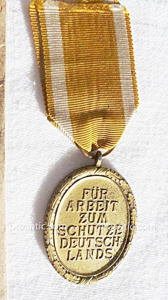 Ww2- Germany- Medaille De Atlantic Wall-photo-1