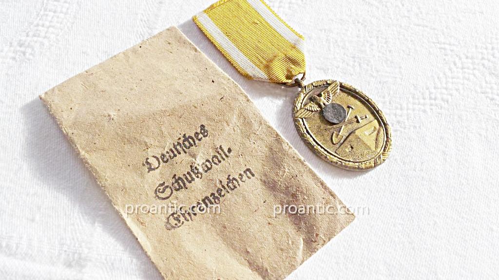 Ww2- Germany- Medaille De Atlantic Wall-photo-3