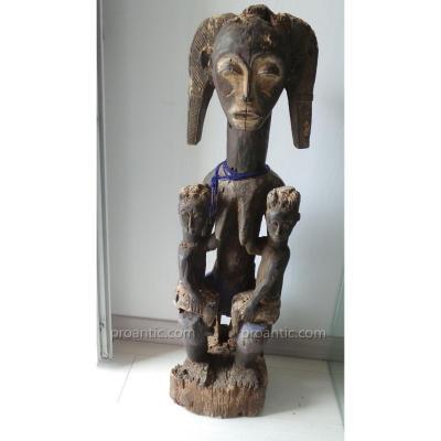 """Statue Maternite """" Koulango """" Cote D Ivoire"""