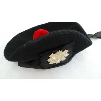 "BERET NOIR DE TRADITION "" HIGHLAND LIGHT INFANTRY "" - WW2"