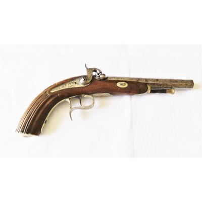 Pistolet Officier Type 1833 -canon Damas- XIX°