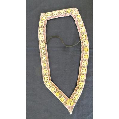 Sautoir Au 33° Degre Sur Chainette A 33 Bijoux  Medaillons