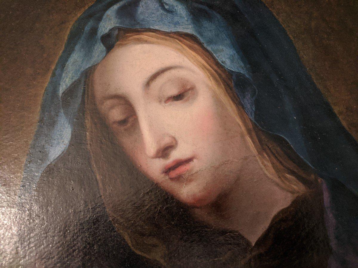 Painting Virgin In Prayer Follower Of Sassoferato-photo-2