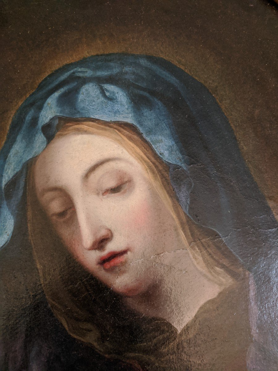 Painting Virgin In Prayer Follower Of Sassoferato-photo-3