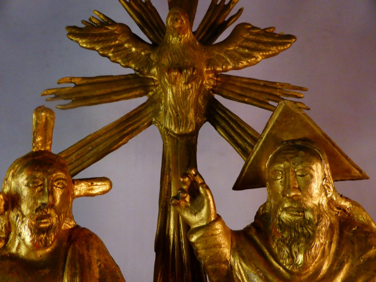Statuette Dieu Christ Et Trinite Doree-photo-4