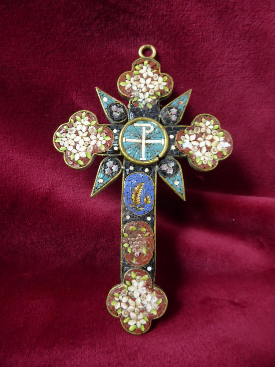 Pectoral Cross In Micro Mosaique